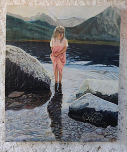 Girl at shore