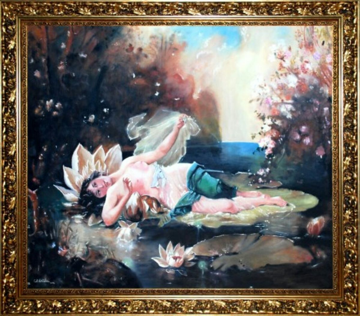 Girl Lying on a Water Lily