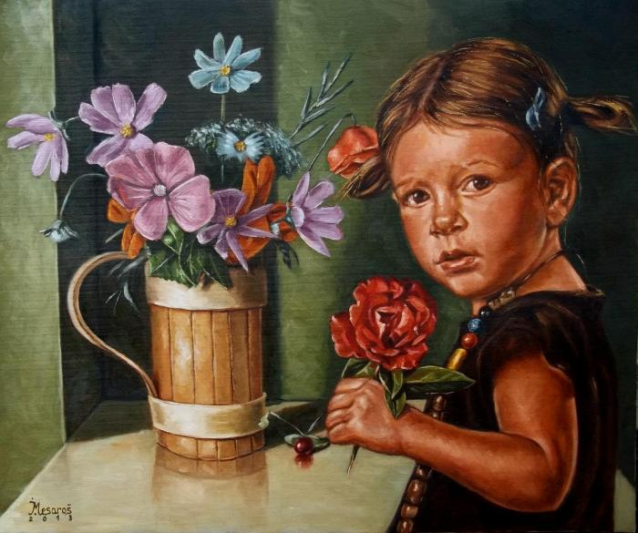 Girl with a rose