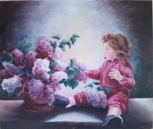 Girl with lilac