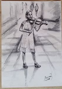 Girl with the violin