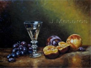 glass and fruit