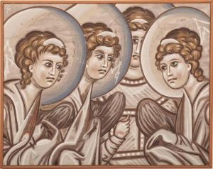 Gracanica, Angels in paradise, copy of the frescoes