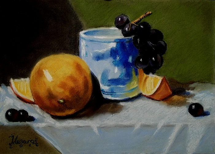 Grapes and oranges