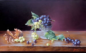 Grapes- oil on canvas 40x65cm