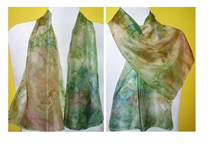 Hand-painted silk scarf - Unikat-1