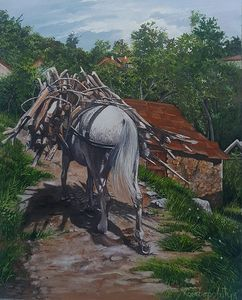 Horse with cargo
