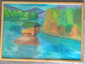 House on the river Drina