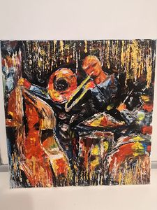 Jazz painting, oil on canvas