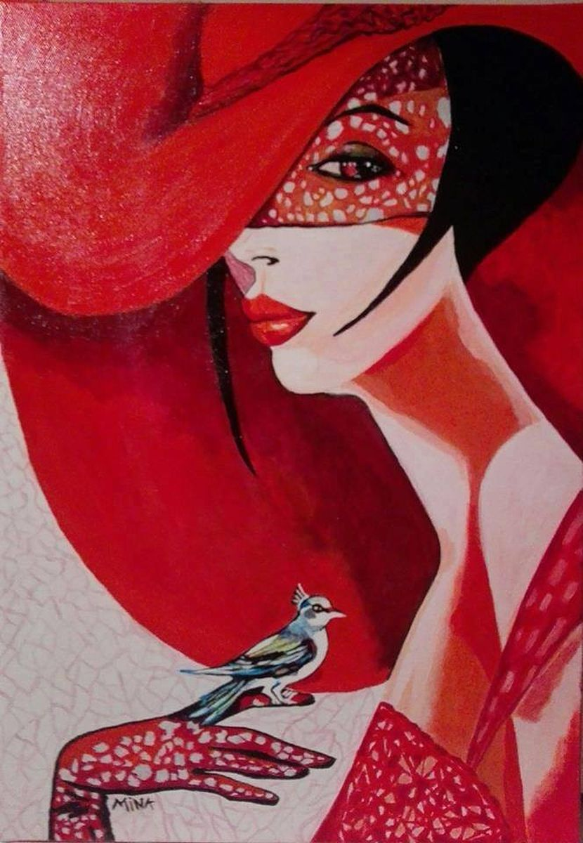 Lady with bird