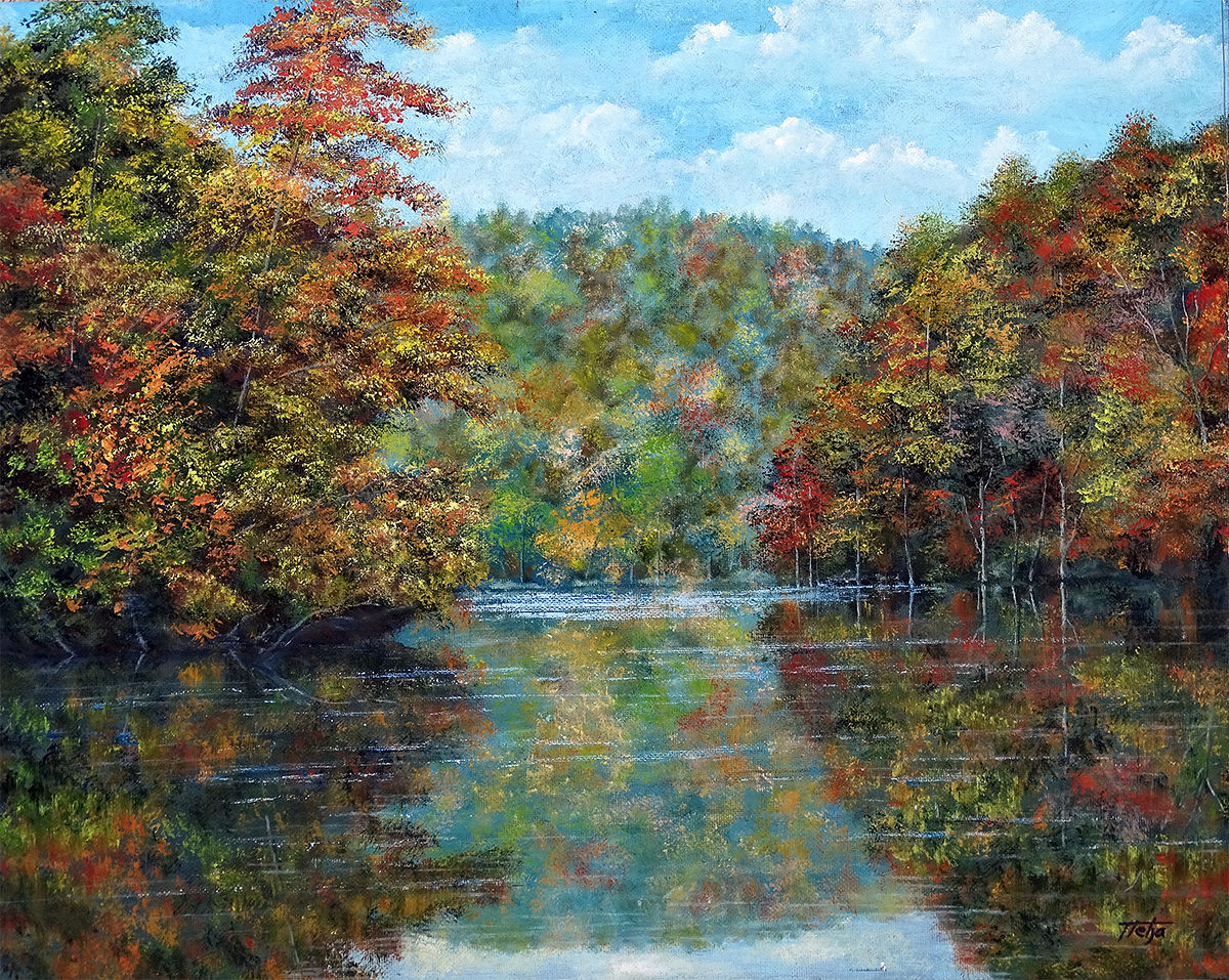 Lake and autumn