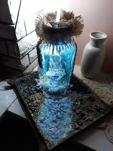 Lamp waterfall