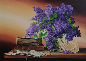 Lilac and books