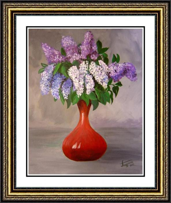Lilac in a vase