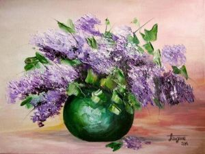 Lilacs in a vase-2