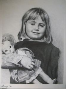 Litlle Girl With a Doll
