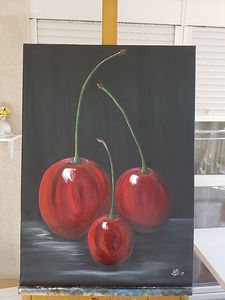 Magical red cherries