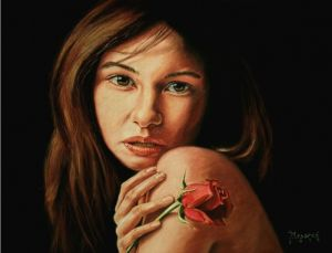 Mary with a rose
