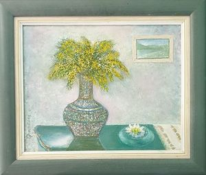 Mimose in vase