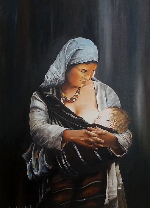 Mother with the child