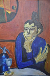 P. Picasso,The Absinthe drinker