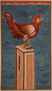 Pecka Patriarsija, Disclamation of Peter, detail-Rooster, copy of the frescoes