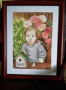 Portrait made for order for the first birthday (Ogi)