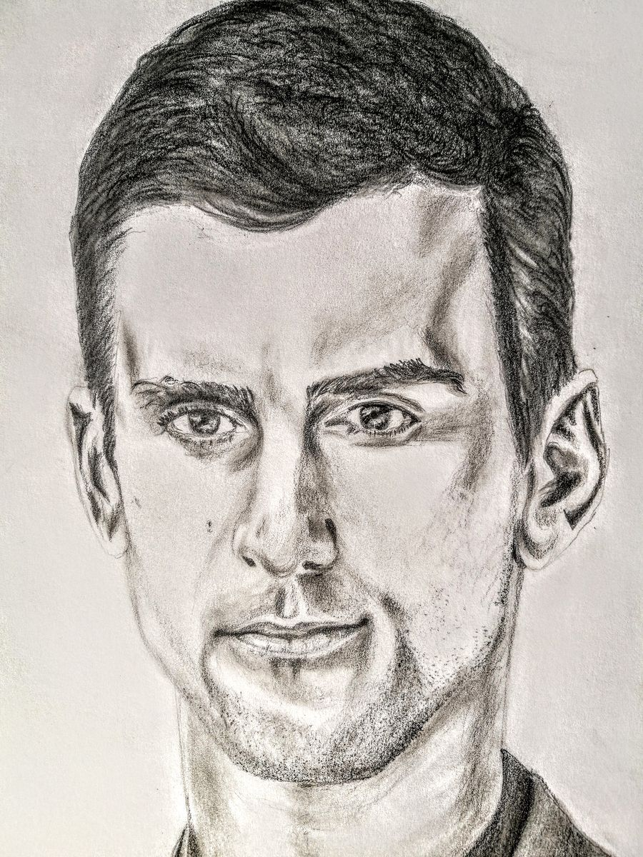 portrait Novak Djokovic