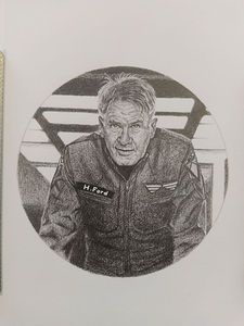 Portrait of Harrison Ford.