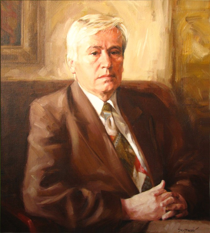 Portrait of Mr. Stefanovic, rector