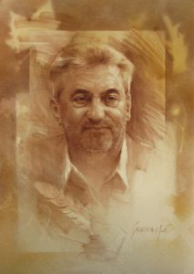 Portrait of Mr. V. Stevanovic, the writer