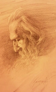 Portrait, Patriarch Pavle, drawing