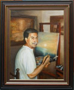 Portrait with the easel
