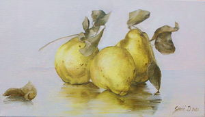 Quince- oil on canvas 20x35cm