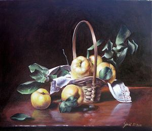 Quince- oil on canvas 50x60cm