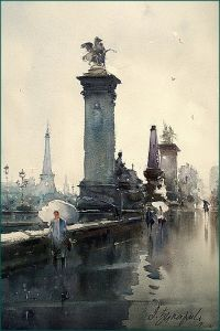 Rainy day in Paris