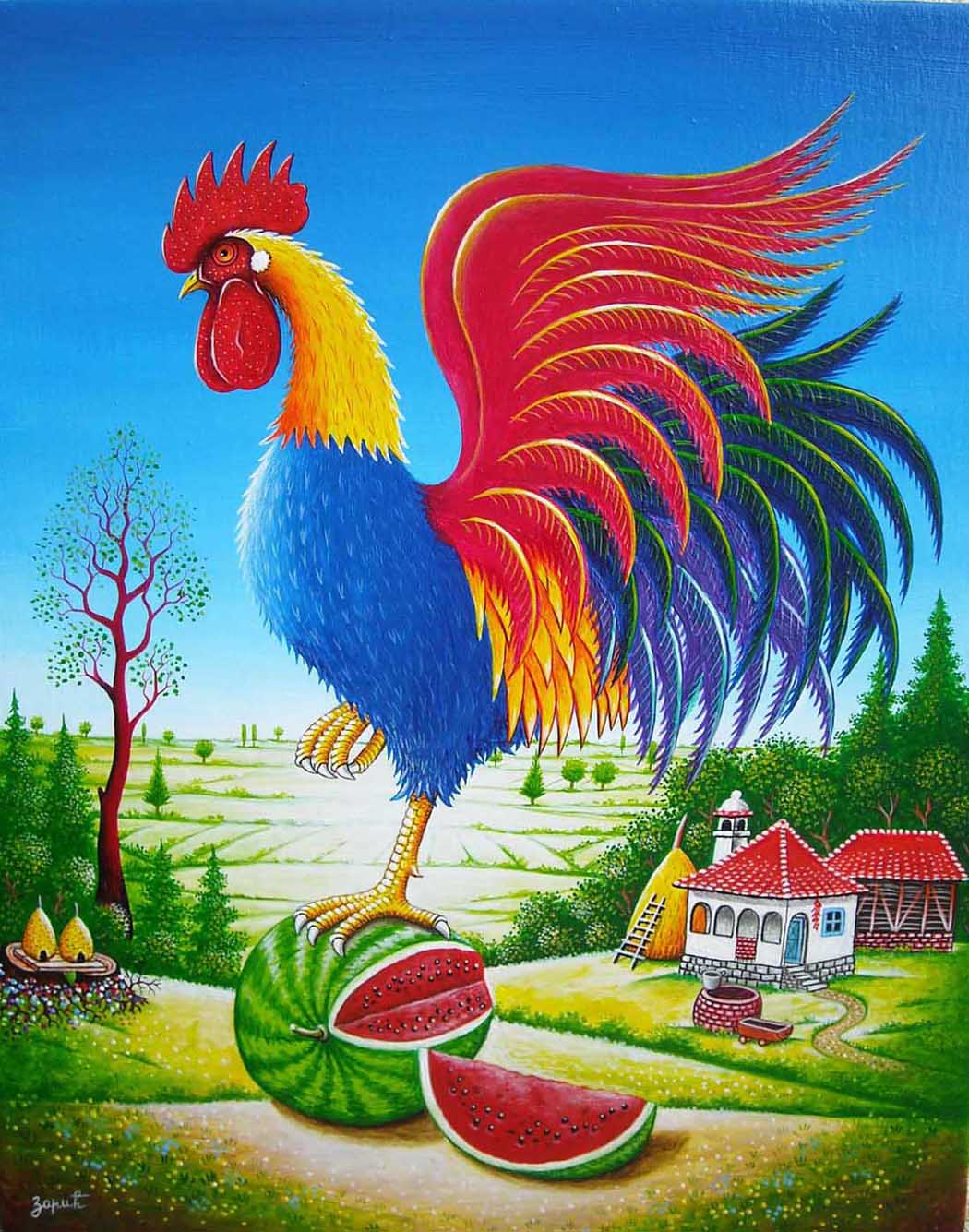 Rooster melon