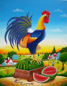 Rooster melon 1