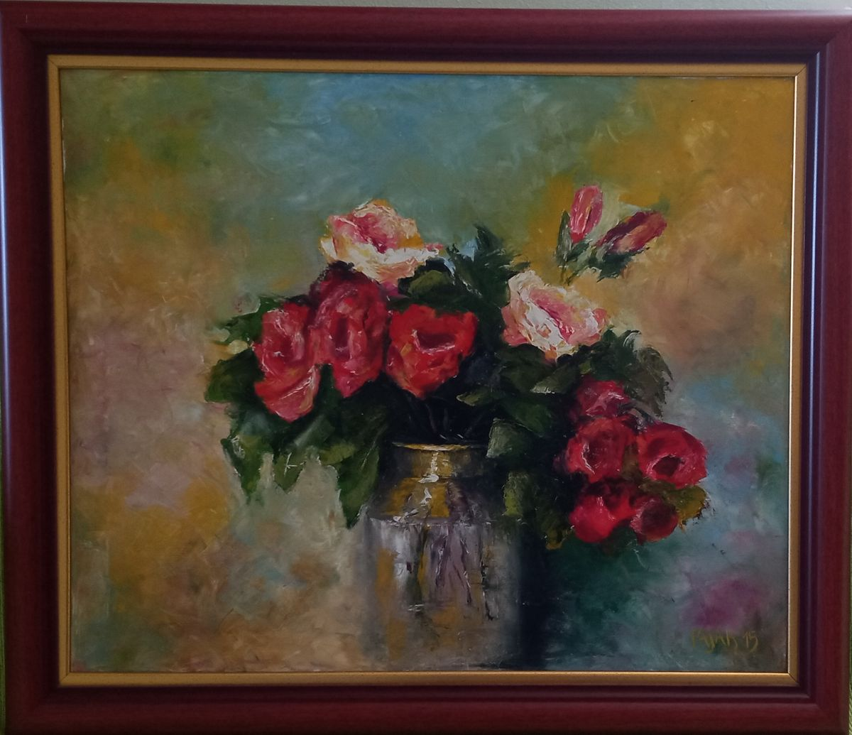 Roses with gold