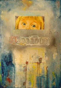 Oil on Canvas 'Witness' by Glozic Milan