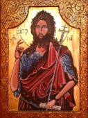 Egg tempera on Wood 'St.John the Baptist' by Jovan Cosic