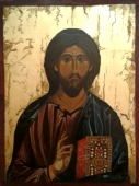 Egg tempera on Wood 'Jesus Christ' by Jovan Cosic