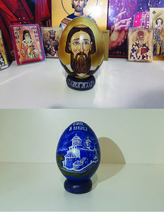 Saint Sava - Painted wooden egg