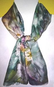 Scarf - Hand painted silk
