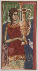 Serbia, Pec, Patriarchy, Birt of Virgin, detail-The Girl with amphora, copy of