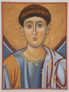 Serbia, Studenica, St.Stephen the First Martyr, detail, copy of fresco