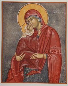 Serbia, Studenica, The Saint Anne with her small daugter Mary (the Virgin)