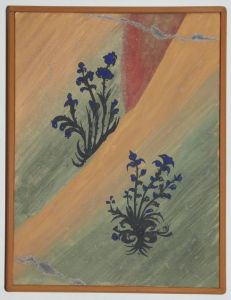 Serbia, Bogorodica Ljeviska, Paradise flowers, copy of the fresco