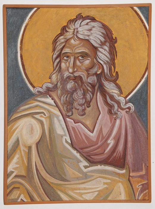Serbia, Monastery Decani, The Prophet Isaiah, detail, copy of the fresco