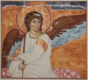 Serbia, Monastery Mileseva, White Angel, copy of the fresco